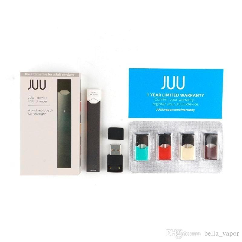 Juul Starter Kit Portable Vape Pen 4 juul Pods in One Pack With USB Charger  Juul Starter Kit