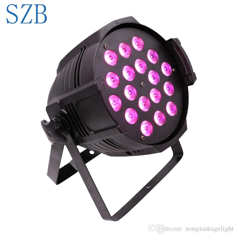 SZB 18X10W RGBW 4in1 Colorful High Quality with Power In And Out DMX LED PAR Light For Project/SZB-PL1810B