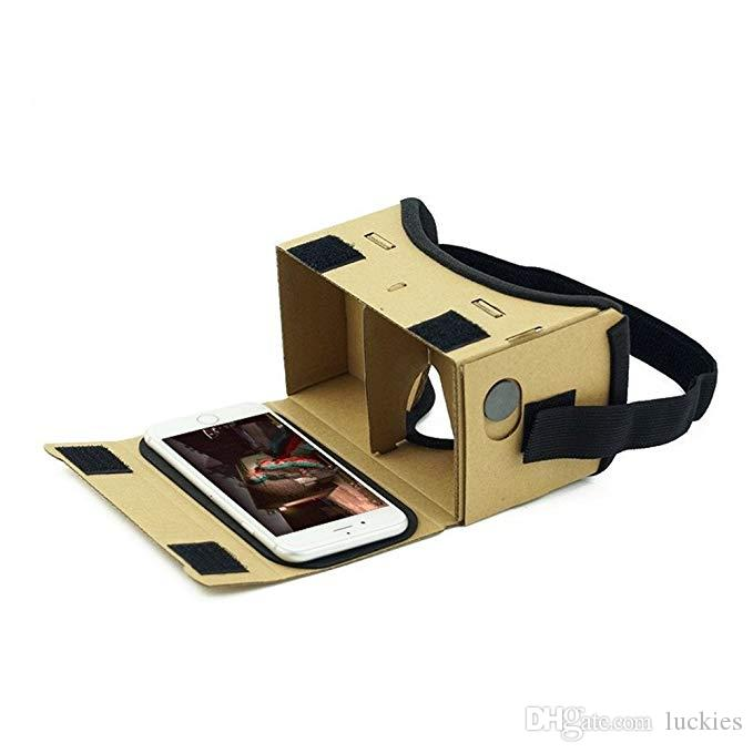 DIY Ultra Clear Google Cardboard VR BOX 2 0 Virtual Reality 3D Glasses for  iPhone SmartPhone Computer Gafas Xiaomi Mi VR Headset