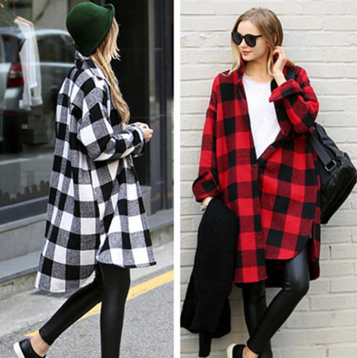 60ed74267 2019 Women Plaid Long Shirts Long Sleeve Pleated Loose Irregular Lapel  Blouses Spring Autumn Checked Shirt Tops OOA6408 From B2b_life, $10.61 |  DHgate.Com