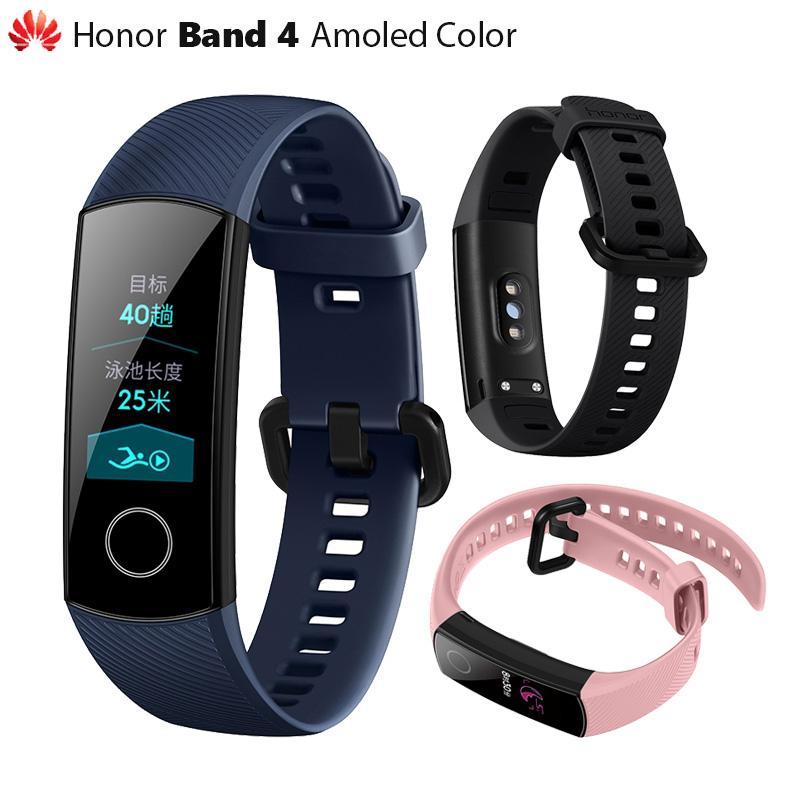 c30293ad8dc3 Original Huawei Honor Band 4 pulsera inteligente color Amoled 0.95 Pantalla  táctil Posición de natación Detectar ritmo cardíaco Sleep Snap reloj ...