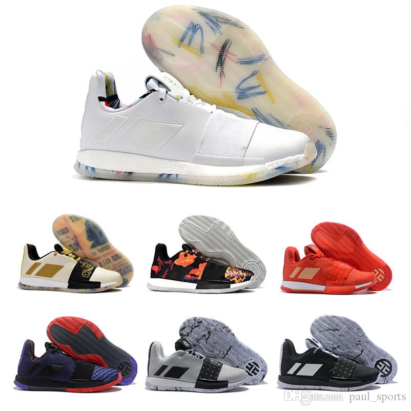 c080f29abc8 2018 MVP Beard Harden Vol. 3 Low White Gold Silver Basketball Shoes For  Good Quality 3s Mens Trainers Sports Sneakers Size 40 46 Sneakers On Sale East  Bay ...