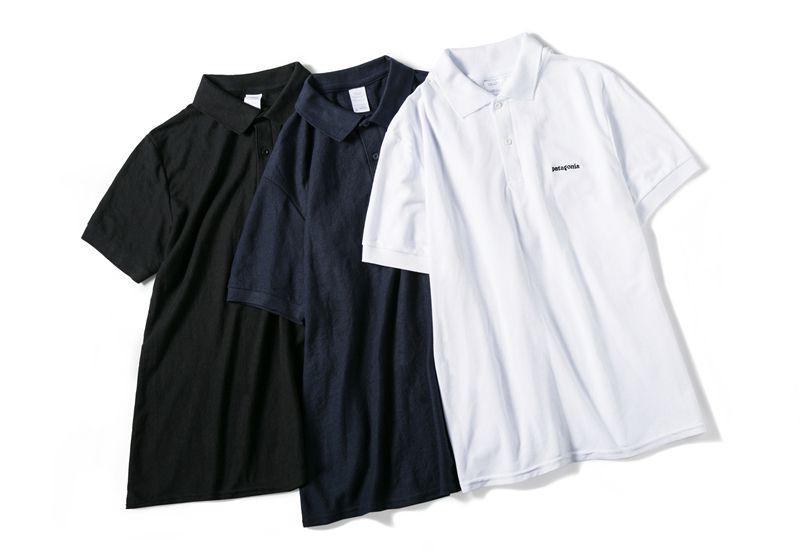 727f1a9b141b1 Mens Fashion Brand Polos Solid Colors PATAGONIA Summer Short Sleeve ...