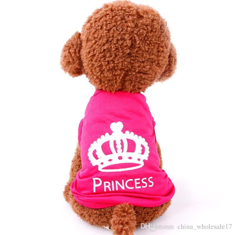 872bc782e 2019 Hot Sale Dog T Shirt Pet Clothing Dog Cat Cute Princess T Shirt ...