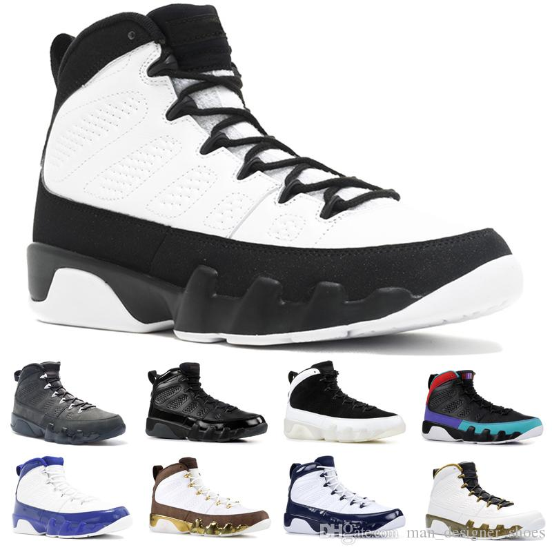 rencontrer 83163 f800e Nike Air Jordan 9 Retro 2019 UNC 9s Hommes Designer Chaussures De  Basketball 9 Bred Dream It Do It Tour Jaune Bon Marché Entraîneur De Sport  Baskets ...