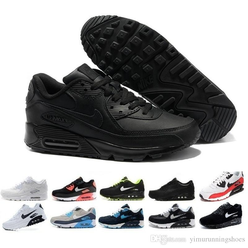 nike air max 90 airmax Hommes Sneakers Chaussures Classic 90 Hommes et femme Chaussures Sport Trainer Air Cushion Surface Respirant Chaussures de