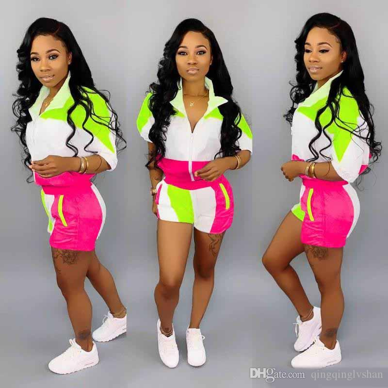 Womens designer jacket short legging outfits two piece set tracksuit outerwear tights sport suit short sleeve cardigan pants