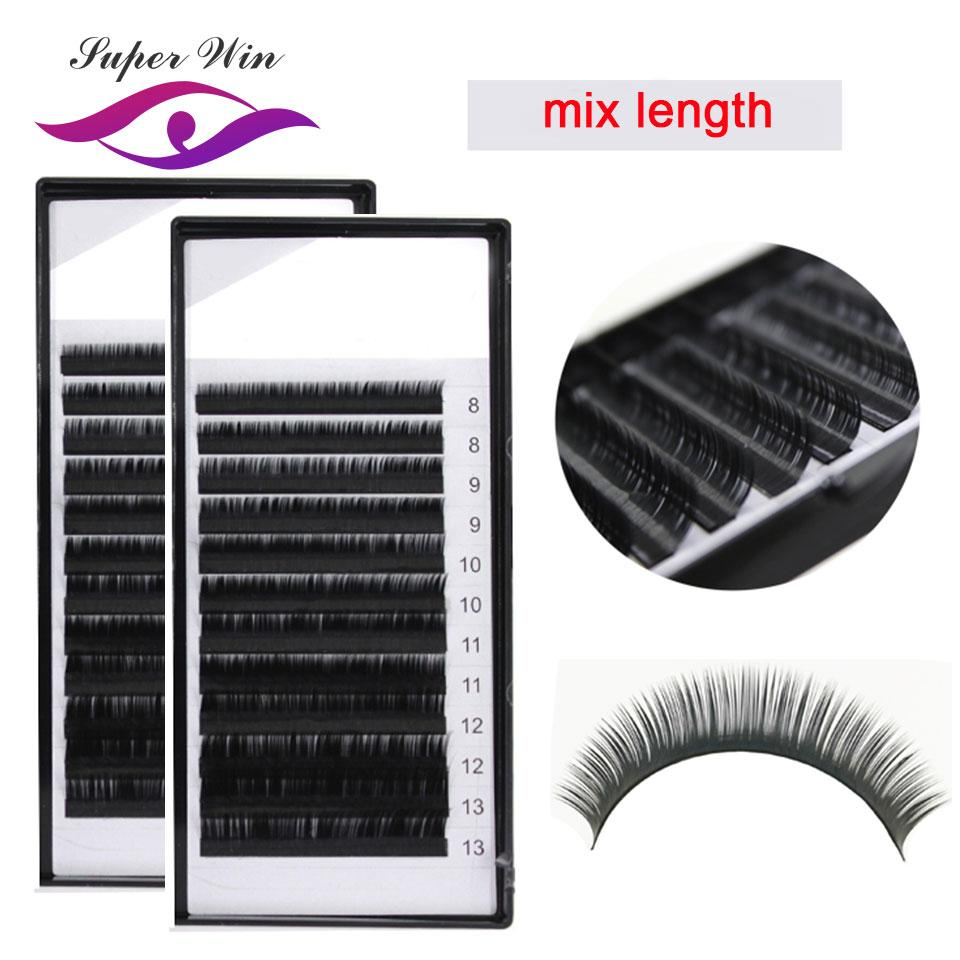 297baca1d25 2 Trays Cheaper J B C D Curl All Size 12rows/Tray 8 15mm Mix Length  Individual Eyelashes Extension Supplies Red Cherry Eyelashes Best Fake  Eyelashes From ...