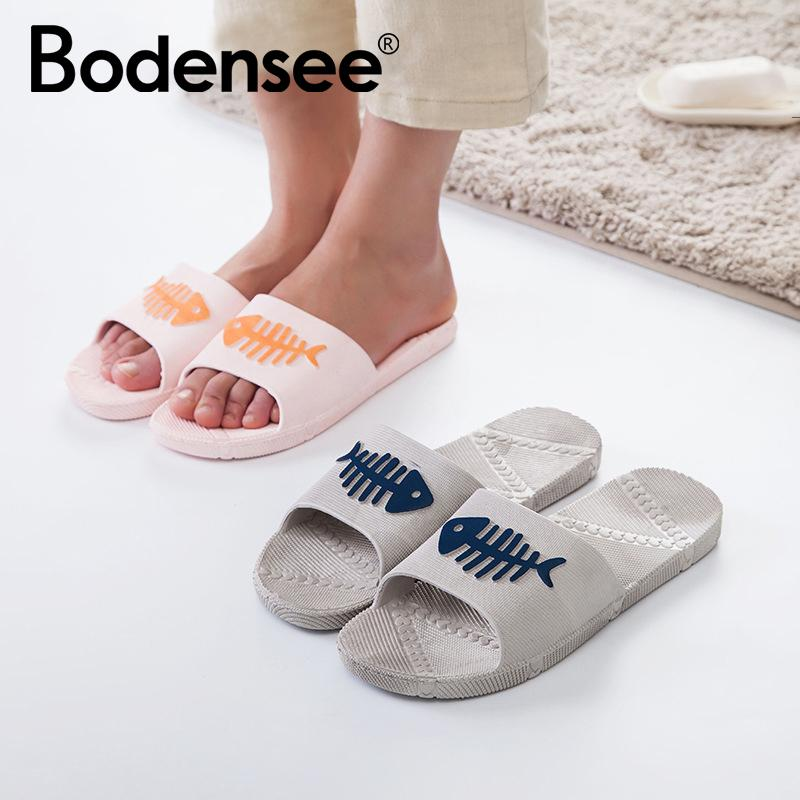 22879d64f2c4 BODENSEE Women Slippers PVC Soft Women Fishbone Slippers Indoor Bathroom Flip  Flops Flat Slide Sandals Girls Shoes Bearpaw Boots From Fivestage