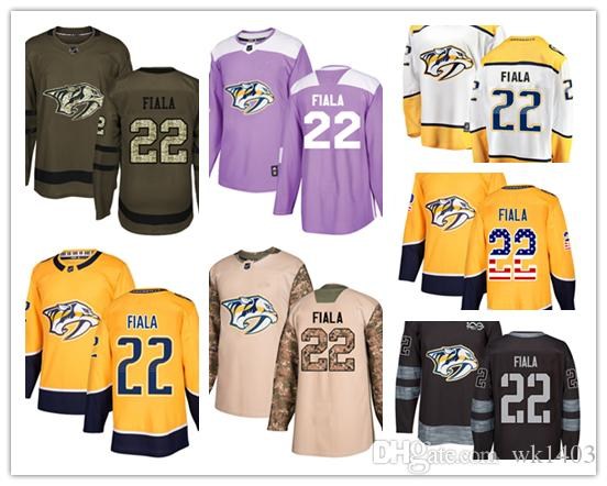 sneakers for cheap b1686 ebc7c Nashville Predators jerseys #22 Kevin Fiala Jersey hockey men women youth  gold yellow white home Breakaway Stiched authentic Jerseys