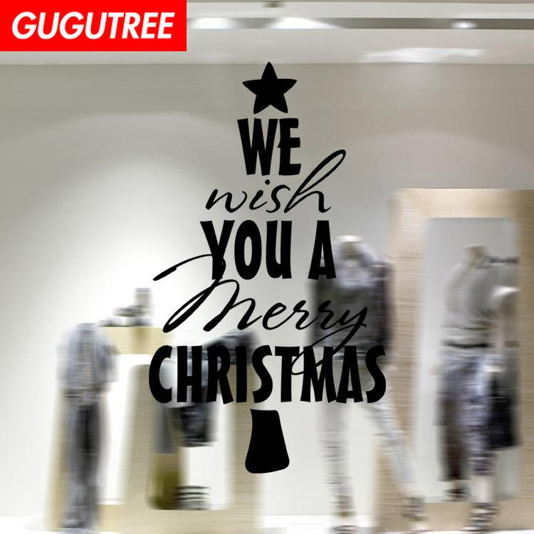 Decora la casa merry christmas new art wall sticker decalcomanie decorazione murale pittura rimovibile Wallpaper G-1237