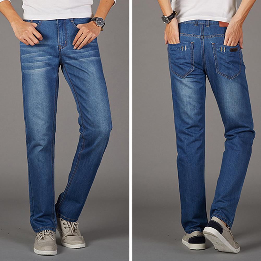 3e3b6e19e9f5 Купить Оптом Модные Мужские Однотонные Повседневные Джинсовые Брюки  Cultivate Straight Jeans Отrunlione В Категории Джинсы, $33.3 На  Ru.Dhgate.Com | Dhgate