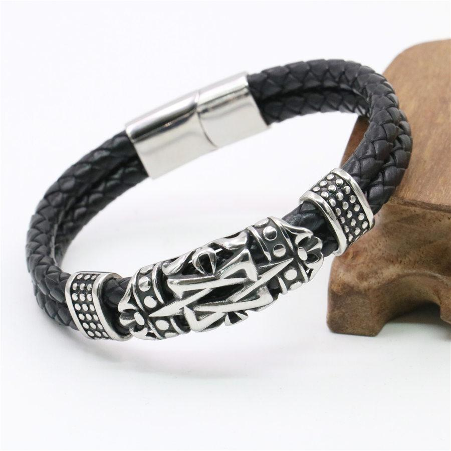 8e9b12dfb Hot New Leather Bracelet Men Jewelry Erkek Bileklik Erkek Pulsera ...