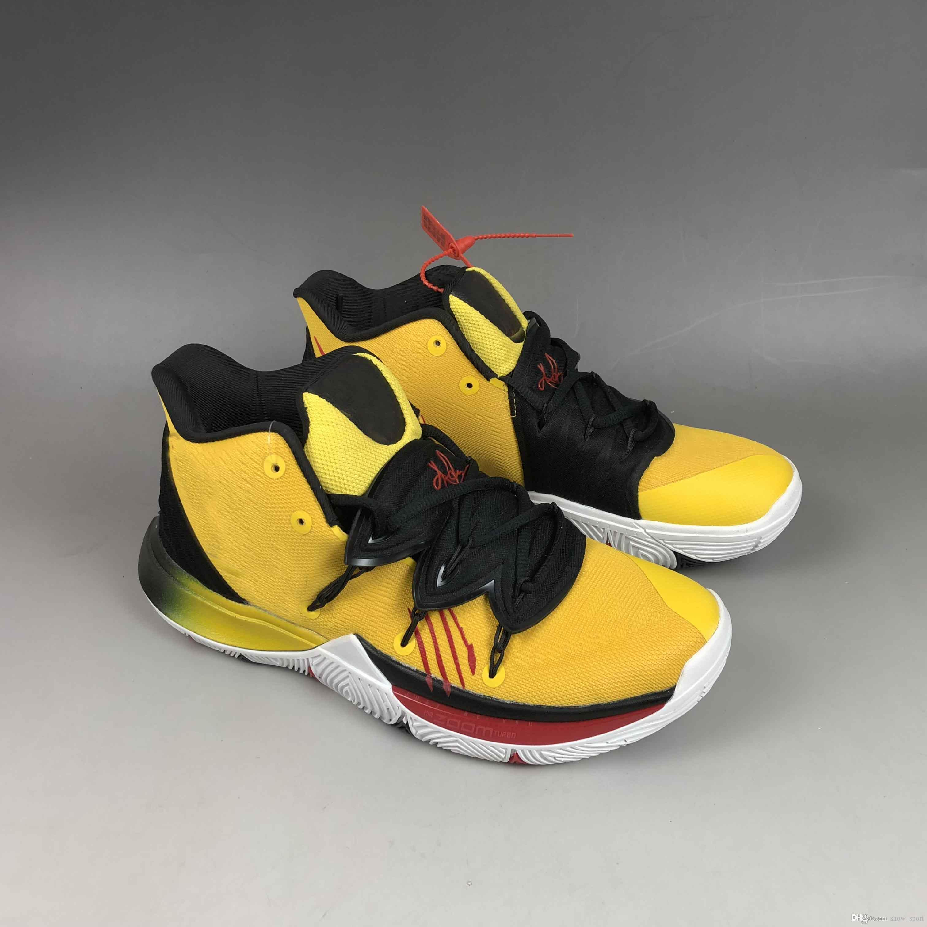 official photos 1aefa b46c2 Großhandel 2019 New Limited Kyrie Black Magic 5 V Herren Basketball Schuhe  Uncle Drew 5S Zoom Sporttraining Sneakers Hohe Knöchelgröße 40 46 Von  Show sport, ...