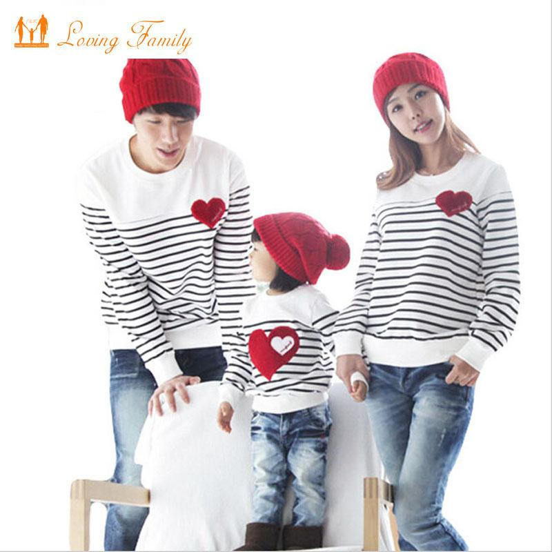 855f4d10333 Spring Autumn Long Sleeve Love Stripe Father Daughter Baby Girl Boy T Shirt  Clothes Family Matching Outfits Family Clothing Sets Family Matching  Clothes ...