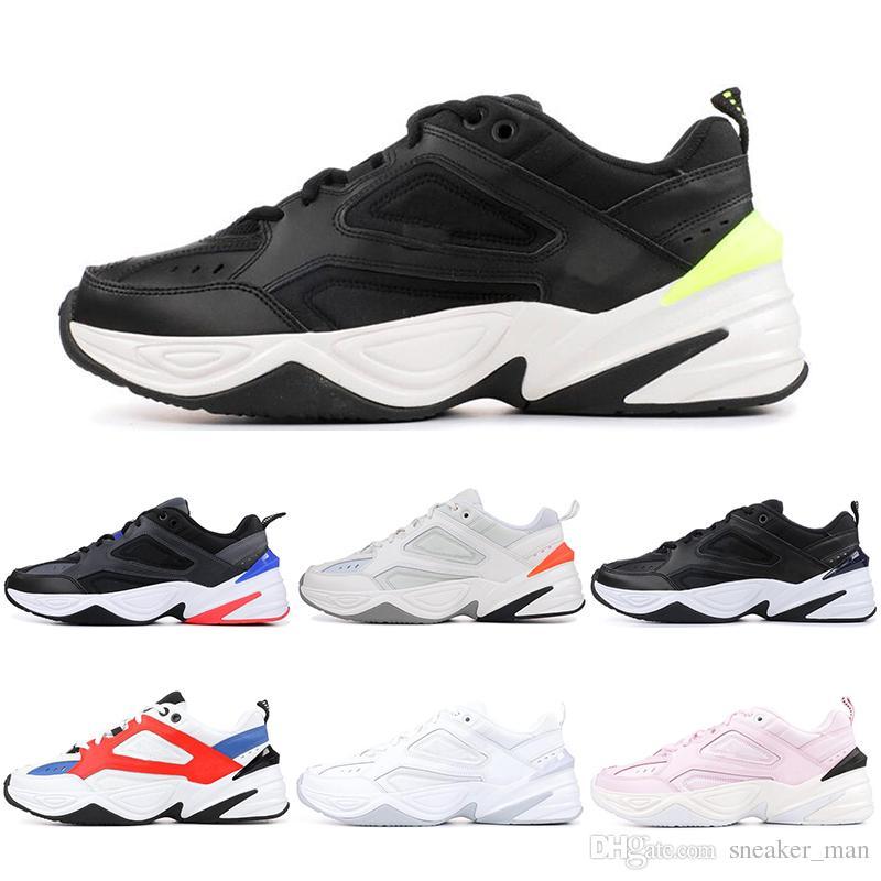 best website 46b23 b3995 Compre Nike M2K Tekno Venta Barata De Calidad Superior Monarch M2K Tekno  Dad Deportes Zapatillas Zapatillas Negro Volt John Elliott París Para  Hombre Tenis ...