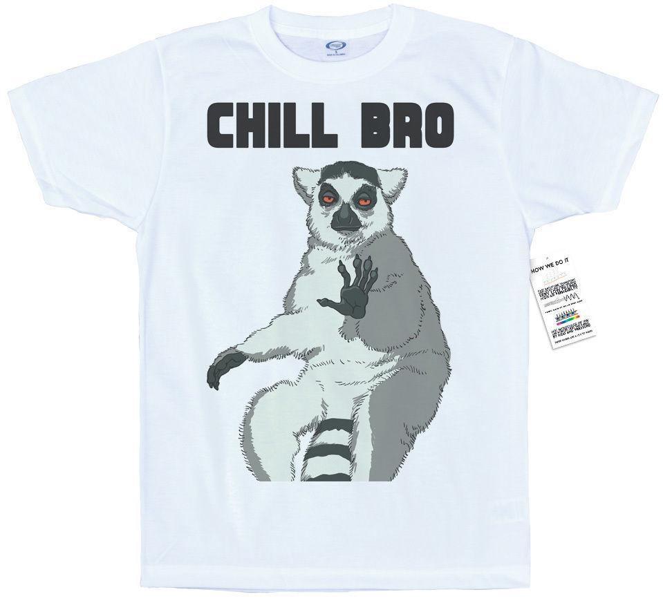 8d519cb0a Chill Bro T Shirt Design, #lemur #stoned Colour Funny Top Vintage Tee Shirts  Family T Shirts From Docup, $16.24| DHgate.Com