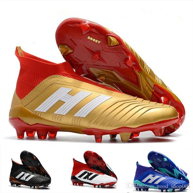 d88742206e7 Predator 18 FG Men Botines De Fútbol Chaussures De Football Boots No \ Con  Cordones De Zapatos Mejores Zapatos De Fútbol Cristiano Ronaldo Zapatos De  Fútbol ...