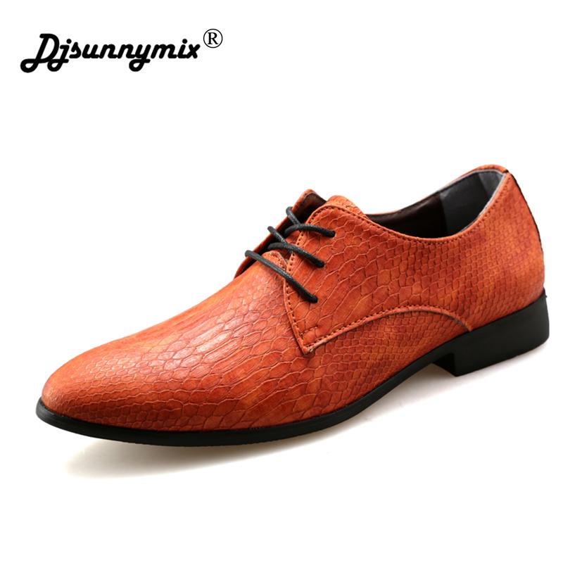 0f27d59c57 Compre DJSUNNYMIX Marca Hombres Zapatos Oxford De Boda Zapatos Con Cordones  Traje De Oficina Vestido De Hombre A  35.11 Del Ycqz4
