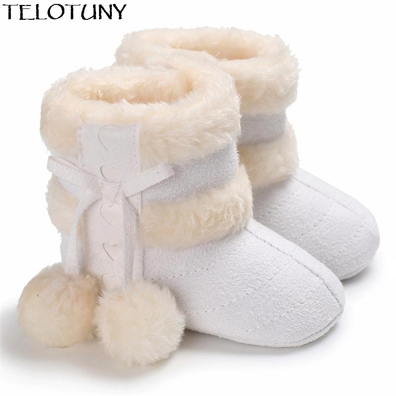 Cute Snow Cotton Warm Available Infant Soft Soled Newborn Winter Baby Shoes For Girl Anti-slip Christmas Booties YE11.23