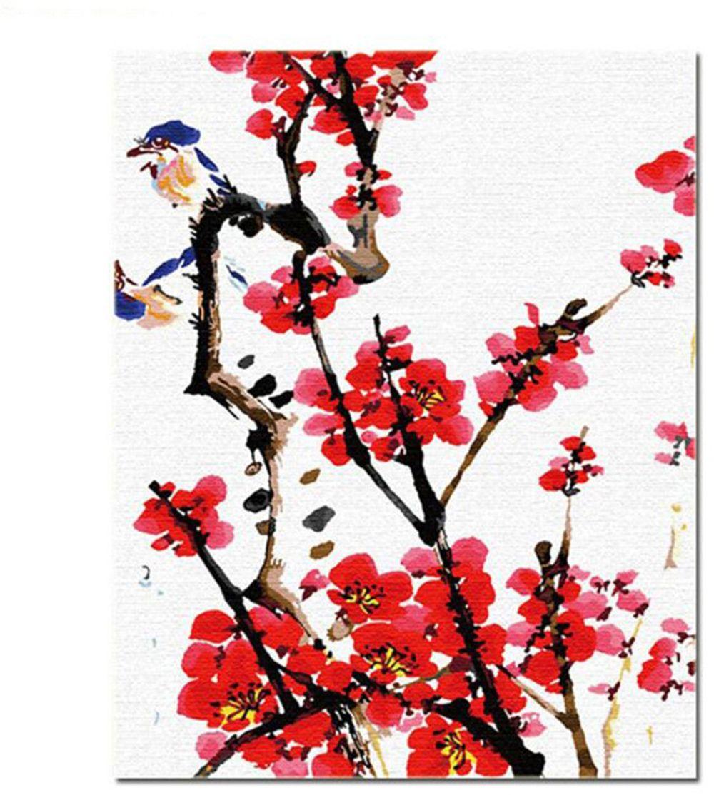 Kits Malen ölfarbe Diy Malen Nach Zahlen Erwachsene Hand Gemalt Pflaumenblüte 16 X 20