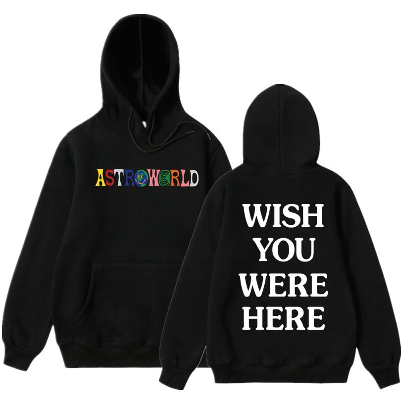de987290fd3b 2019 NEW Men Hoodies Travis Scott Astroworld WISH YOU WERE HERE Sweatshirt  Men Fashion Letter Print Hoodie And Woman Pullover From Manxinxin, ...