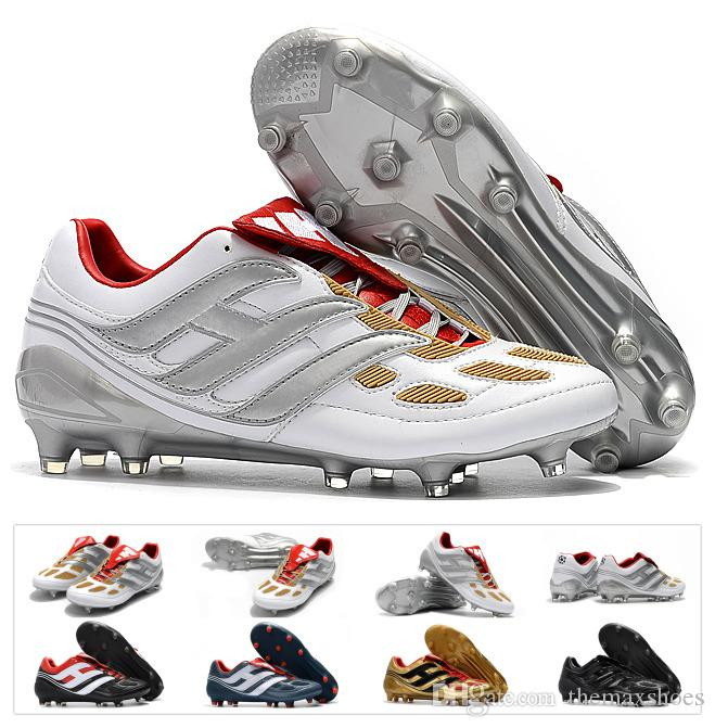 2ea0aeecfce6 2019 Classics Predator Precision Accelerator Electricity FG DB AG V 5  Beckham Becomes 1998 98 Men Soccer Shoes Cleats Football Boots Size 39 45  From ...