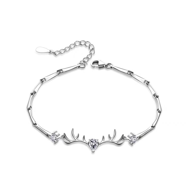 6b5cc64fac4 New 925 Sterling Silver Charm Bracelets Girl Simple Pastoral Style Sweet  And Fresh Daily Life Parties Best Friend Charm Bracelets Heart Charm  Bracelet From ...