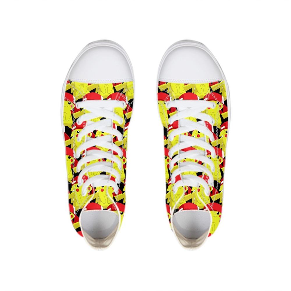 b9c5edb5 Dibujos animados divertidos Pintura Zapatos Planos Para Mujer Primavera  Otoño Pisos Amarillo Lindo Bretable Zapatillas de Lona Adolescente ...