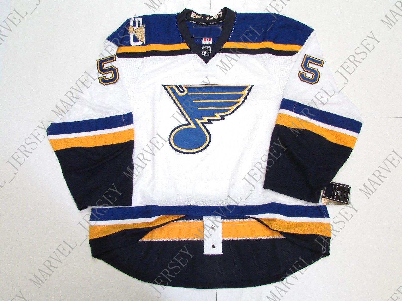 cheap for discount 785c7 28ca6 Cheap custom PARAYKO ST. LOUIS BLUES AWAY 50th ANNIVERSARY JERSEY stitch  add any number any name Mens Hockey Jersey XS-5XL