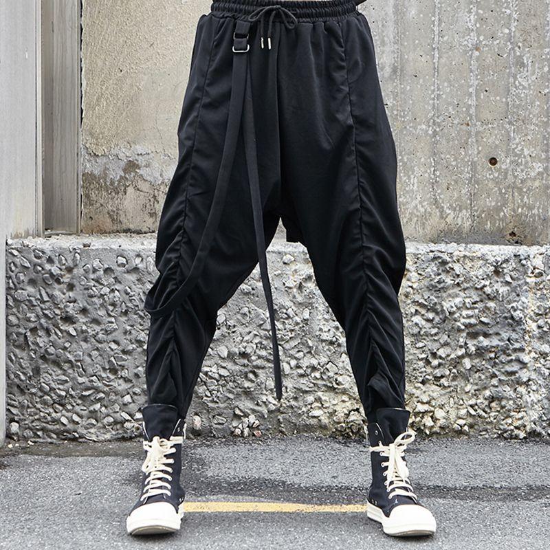 Compre 27 46 2019 NUEVA Ropa Para Hombre Moda Personalidad Pliegue Yamamoto  Loose Hip Hop Pantalones Anchos De Piernas Tallas Grandes Trajes De  Cantante A ... 6e55a3f8981