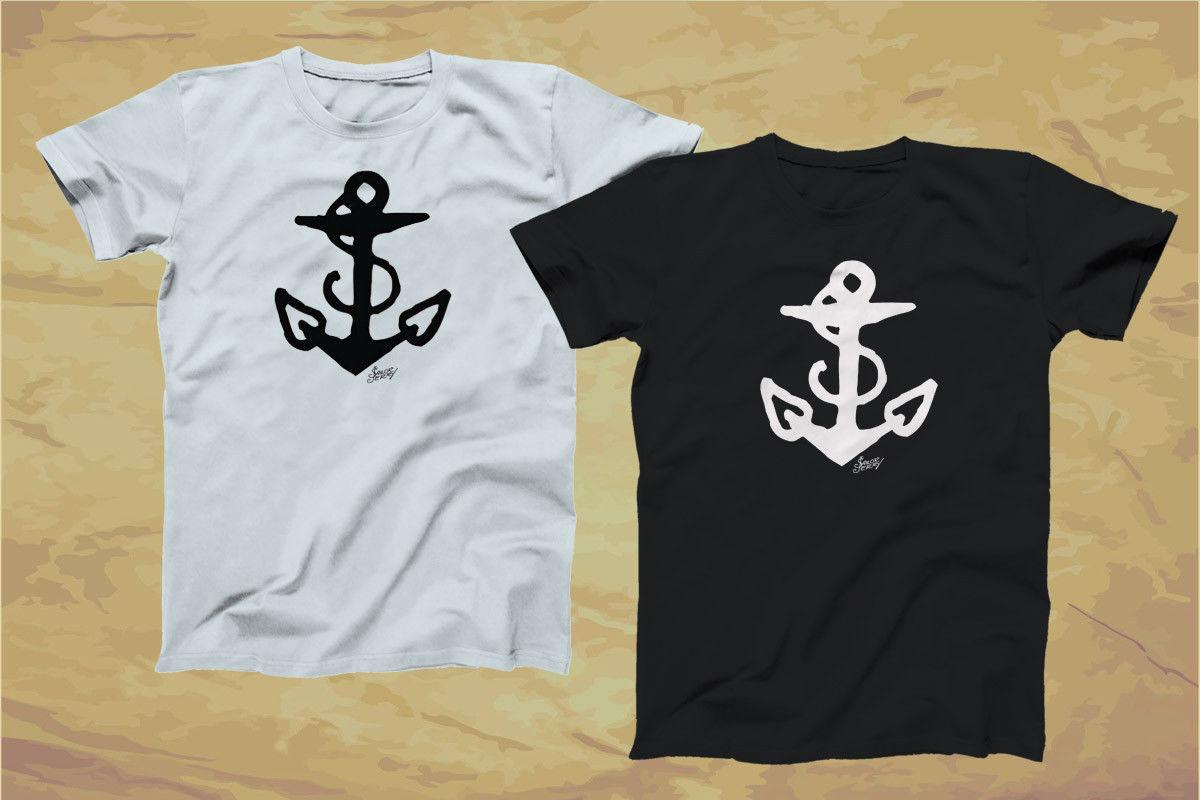 c8258e23 SAILOR JERRY Tattoo Anchor Logo Black & White T Shirt XS 3XL Funny Unisex  Casual Top Online Tees Tee Shirts Design From Shirtquarters, $12.96|  DHgate.Com