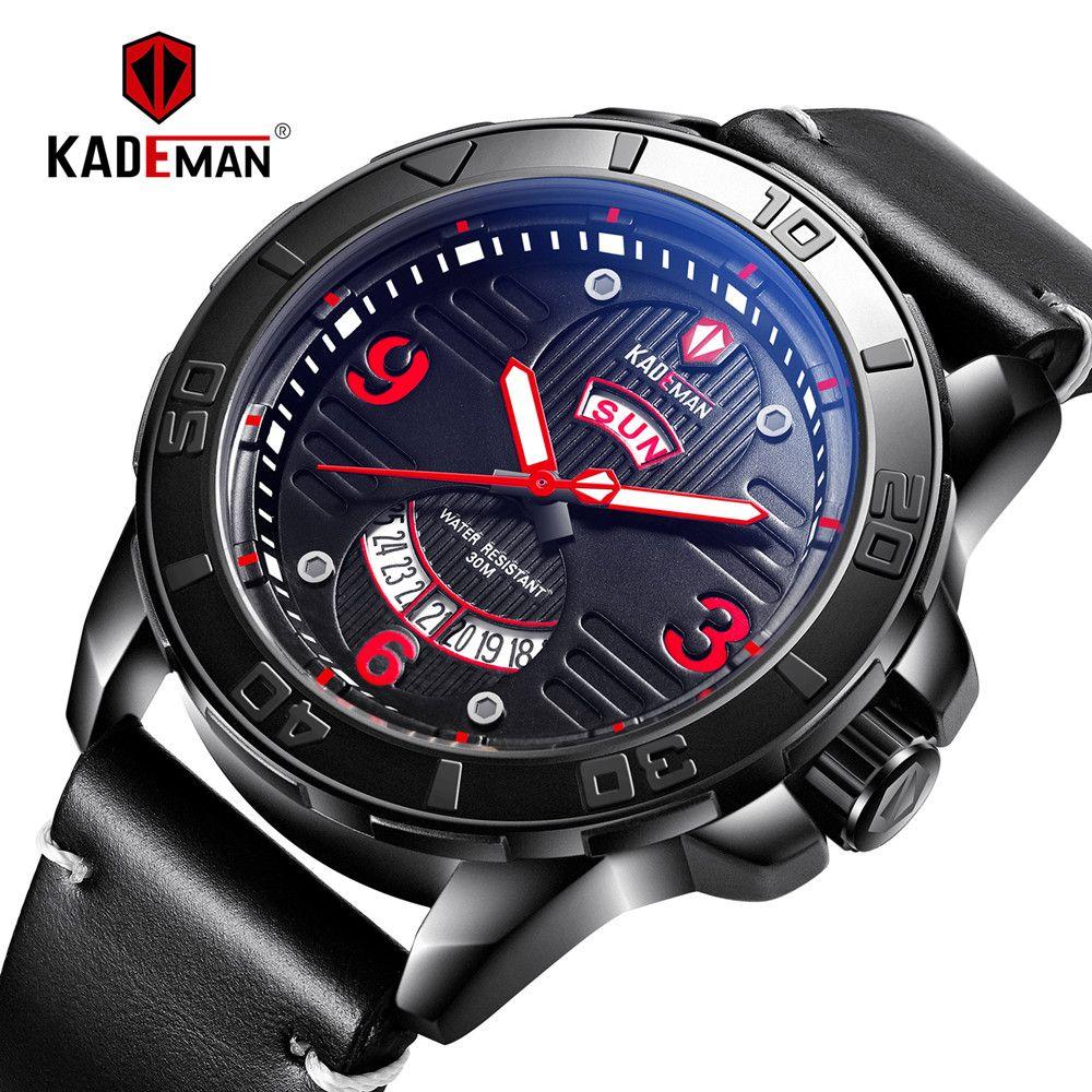 e544659eeda2 Compre KADEMAN 2019 Nuevo Reloj Deportivo Reloj De Hombre De Negocios De Moda  Marca De Lujo Relojes De Pulsera Impermeables Ejército Relogio Masculino A  ...