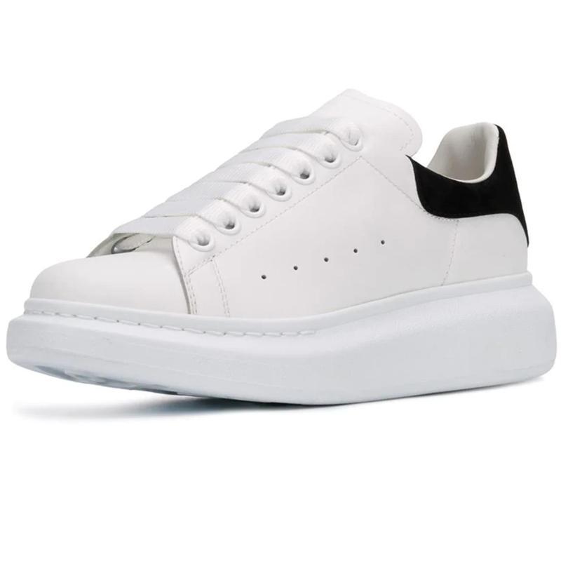 98cd386a12c5 New Season Designer Shoe Fashions Luxury Women Shoes Men's Leather Lace Up  Platform Oversized Sole Sneakers White Black Casual Shoe