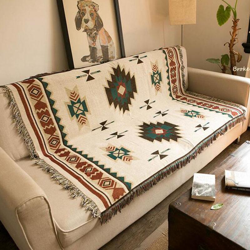 Multifunction Knitted Sofa Blanket Geometric Pattern Blanket Living Room  Bedroom Rug Soft Carpet Bedspread Tablecloth Tapestry Black Chenille Throw  Blanket ... 2875a47d9