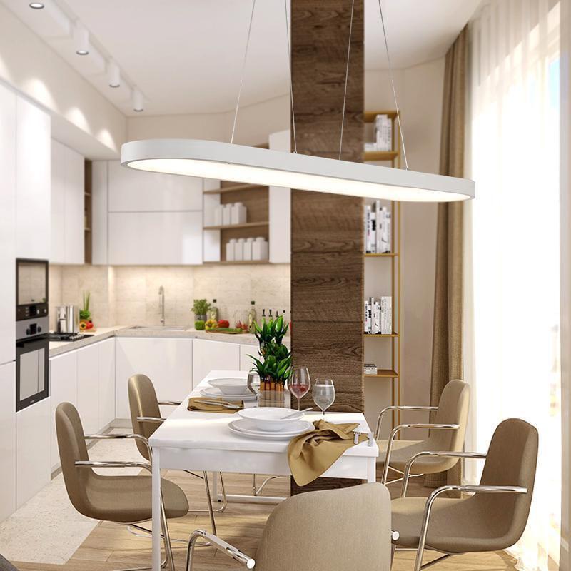 Compre Moderno LED Luces Colgantes Cocina Acrílico + Metal ...
