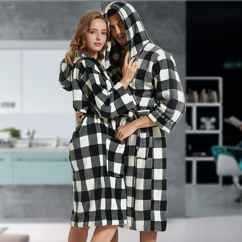 2019 Flannel Bathrobe Men Robe Male With Hooded Thick Dressing Gown Pajamas  Men S Bathrobe Winter Long Plus Size XXL Bridesmaid Robes From Yuhuicuo 9172cc080