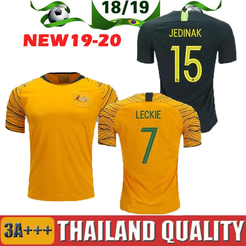 World Cup 2018 Australia Soccer Jersey Home Yellow Away Green 18 19 JEDINAK  LECKIE MILLIGAN CAHILL 80755e321