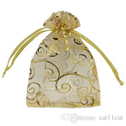 16fb59ef7 Compre Bolsas Transparentes De Organza Para Bodas Baby Shower Impresión De  Ratán Bolsas De Regalo Muestras Muestran Bolsas Con Cordón 4x6, Dorado A  $0.13 ...