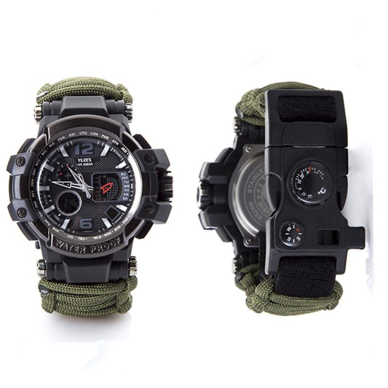 New Outdoor Survival Watch Bracelet Multi-functional Waterproof 50M Watch For Men Women Camping Hiking Military Tactical Camping Tools (9)