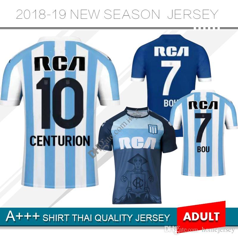 2019 Racing Club De Avellaneda Camisetas De Fútbol Local 18 19 Racing Away  Camisetas De Fútbol 2018 Avellaneda Tercer Uniforme De Fútbol Por  Homejersey c1831fe5fa934