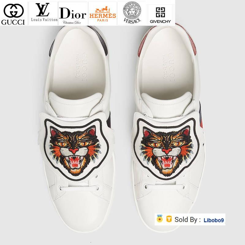 Libobo9 Leather Python Tiger Bee Flower Embroidery Unisex Shoes Sneakers Dress Shoes Skate Dance Ballerina Flats Loafers Espadrilles Wedges