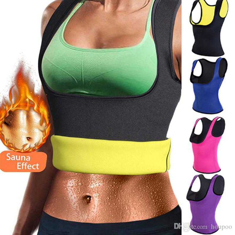 d74bd3df16 2019 Women Body Shaper Slim Belt Neoprene Hot Sweat Slimming Shirt Waist  Trainer Corset Vest Tummy Control Body Shaper For Weight Loss From Houpoo