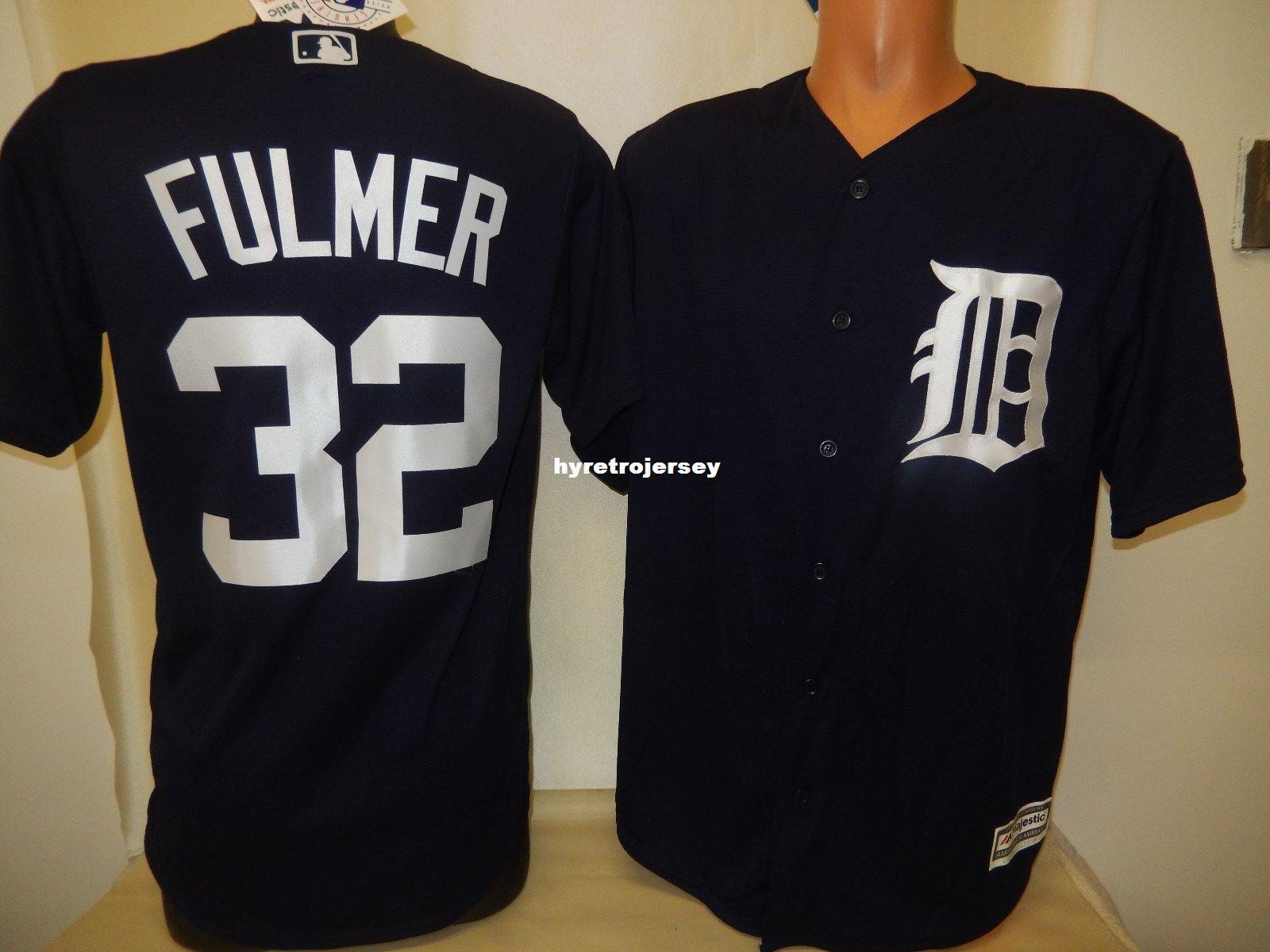 916c8064e Cheap Custom Top Detroit #32 MICHAEL FULMER Shirt Cool Base JERSEY ...