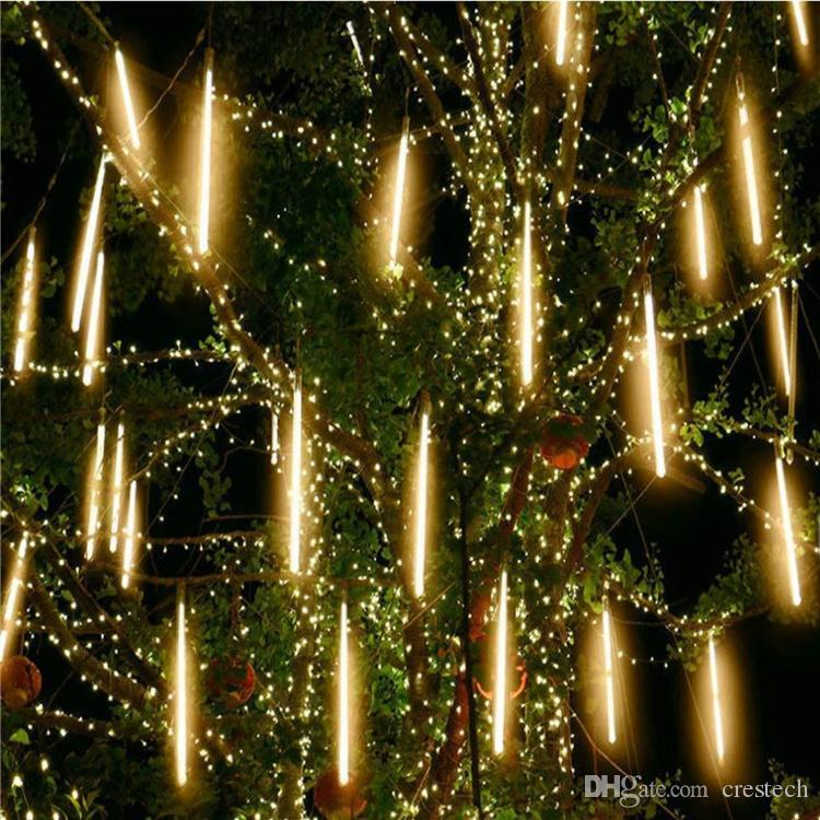 Waterproof 30cm 50cm 80CM 8/10 Tube Meteor Shower Rain LED String Lights Outdoor Christmas Garland For Wedding Party Garden Decoration