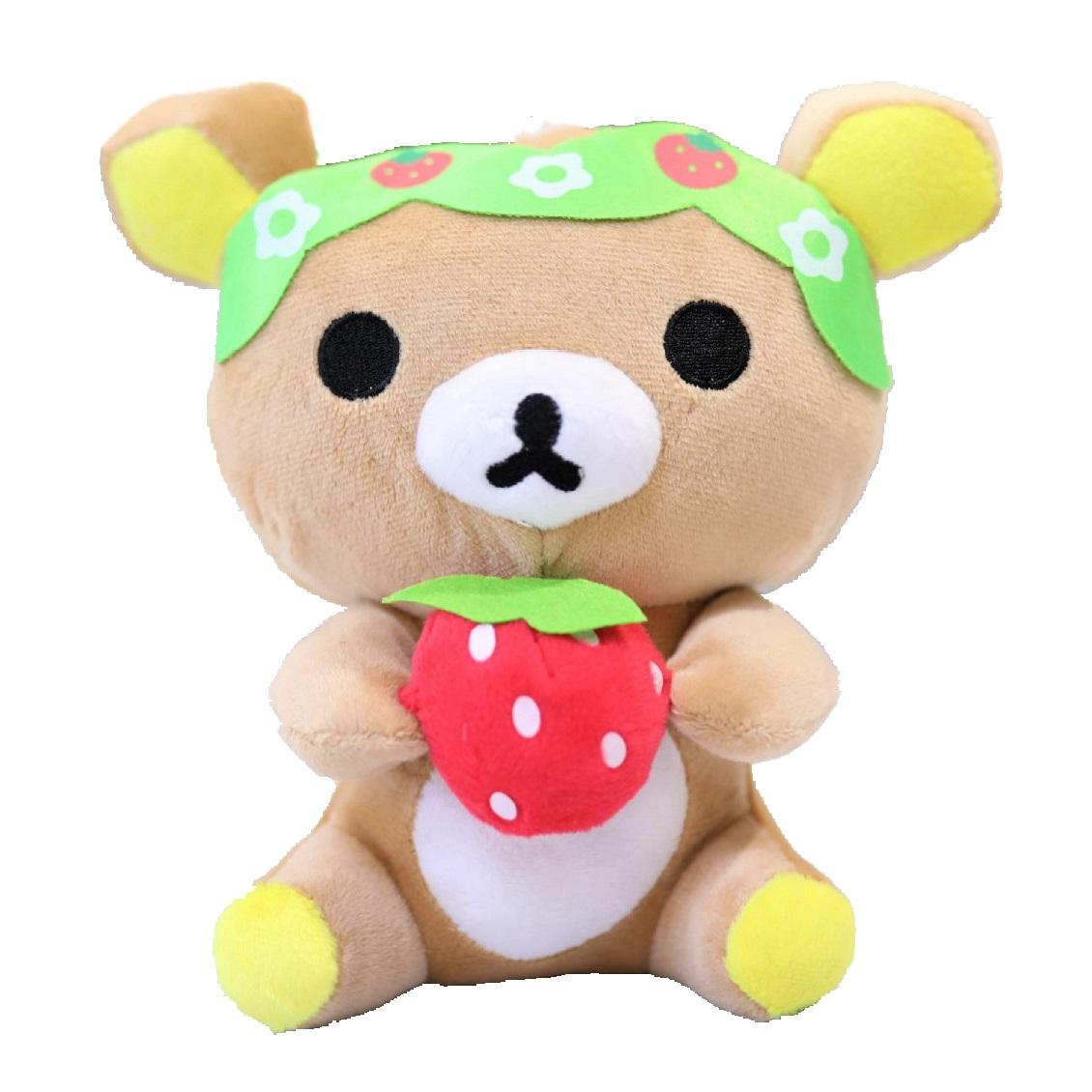 1324e892ad59 2019 Strawberry Bear Plush Toys Soft Stuffed Animals Toy Kids Two Colors  Cartoon Lovely Dolls Pendant Decorative Toys For Children 20cm From  Mk665e323