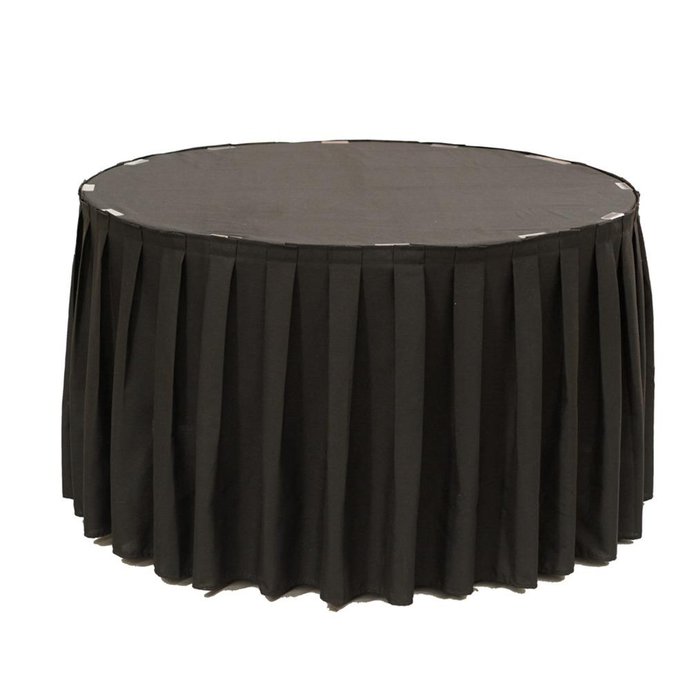2019 Polyester Table Skirt Tableware Cloth Table Skirting With Metal
