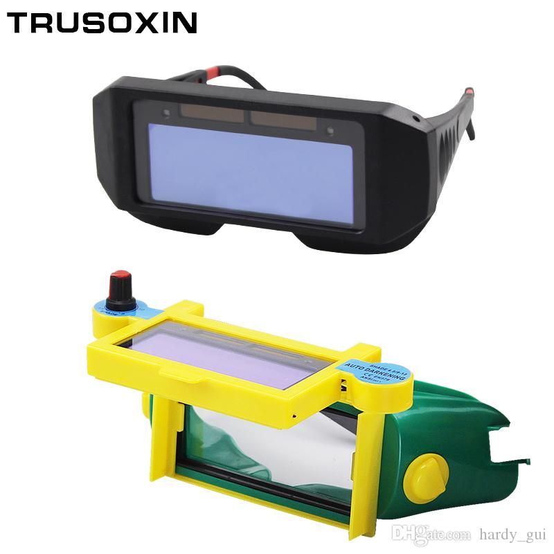 Solar Auto Darken Shading Welder Eyes Mask Helmet Eyes Goggle/Welder Glasses for ARC TIG MMA MIG MAG Welding Machine