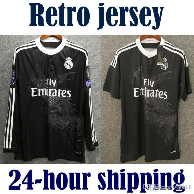 Retro Real Madrid 2014 2015 Domicile Football Maillot BALE RONALDO KROOS BENZEMA 14 15 SERGIO RAMOS ASENSIO Maillot manches longues