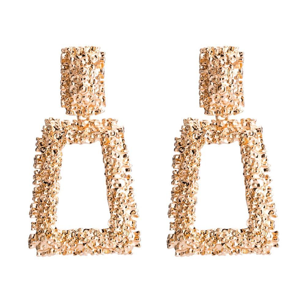 9521dd2edf MVEXO Geometric Vintage Earrings for Women Gold Silver Big Earring 2018  Fashion Jewellery Statement Metal Earing Trendy Jewelry KMVEXO Ge...